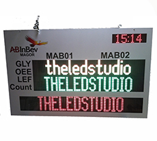 LED Production Monitoring Display