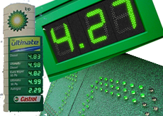 led fuel price signs | led fuel price displays
